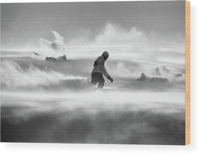 Action Wood Print featuring the photograph For Strong Only... by Peter Svoboda