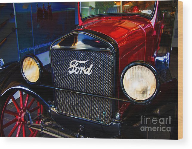 Ford Motel T Icleand Wood Print featuring the photograph Forvorite Model T by Rick Bragan