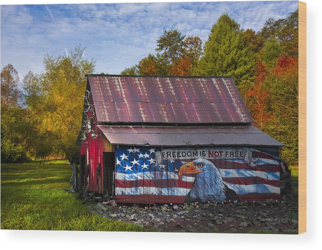 American Wood Print featuring the photograph Freedom Is Not Free by Debra and Dave Vanderlaan
