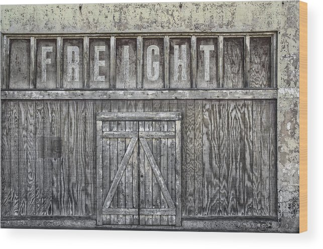 Freight Wood Print featuring the photograph Freight by Heath Yonaites