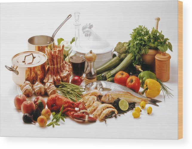 Food Wood Print featuring the photograph French Gastronomy by Selke Boris