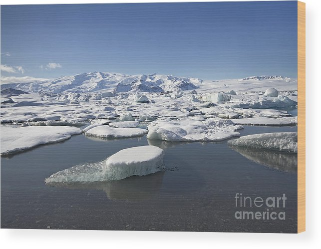 J�kuls�rl�n Wood Print featuring the photograph Frozen Paradise by Evelina Kremsdorf