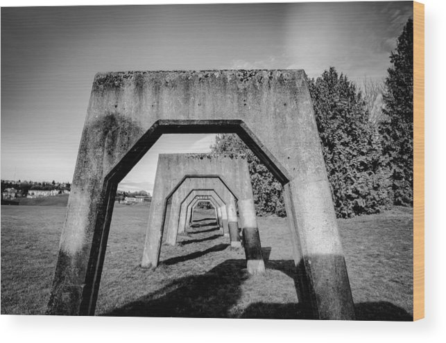 2012 Wood Print featuring the photograph Gas Works Park Seattle by Puget Exposure