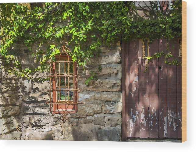 St. Augustine Wood Print featuring the photograph Gate And Window by Rich Franco