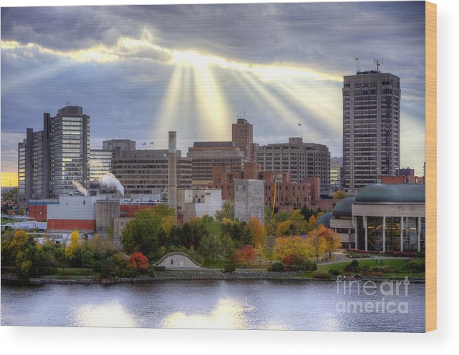 Gatineau Wood Print featuring the photograph Gatineau Quebec by Denis Tangney Jr