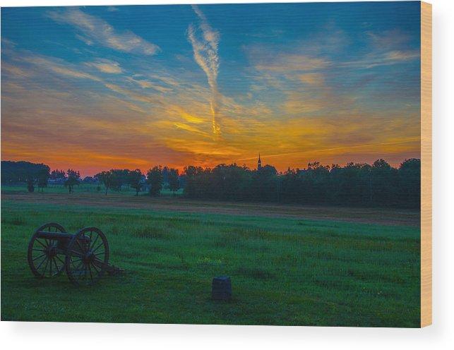 Gettysburg Wood Print featuring the photograph Gettysburg Sunrise by Kevin Jarrett