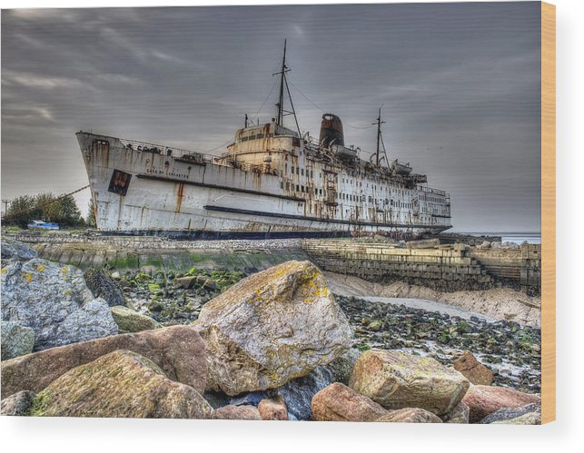 Ship Wood Print featuring the photograph Ghost Ship Ll by Ian Mitchell