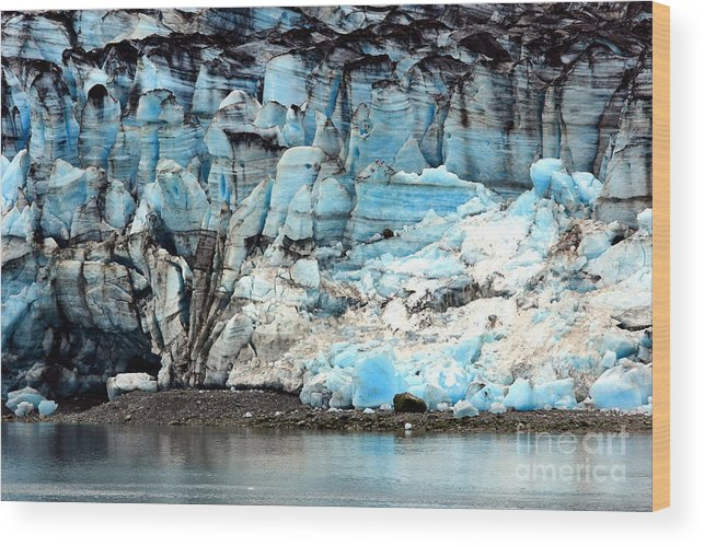 Alaska Wood Print featuring the photograph Glacier And Sediments by Sophie Vigneault