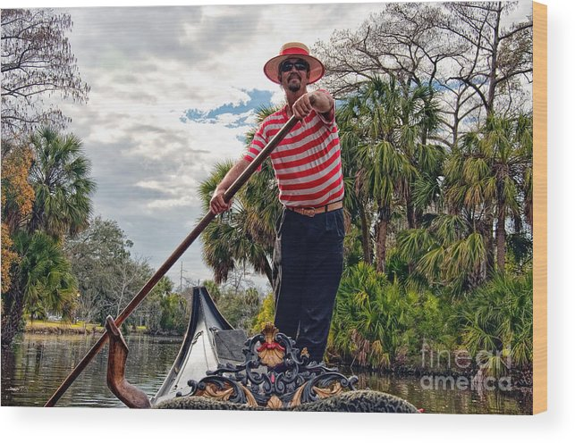 Gondola Wood Print featuring the photograph Gondola Ride In City Park New Orleans by Kathleen K Parker