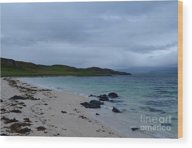 Coral Beach Wood Print featuring the photograph Gorgeous Coral Beach On Skye In Scotland by DejaVu Designs