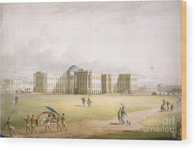 India Wood Print featuring the photograph Government House, Calcutta by British Library