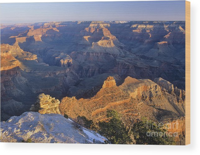 Grand Wood Print featuring the photograph Grand Canyon Arizona by Derek Croucher