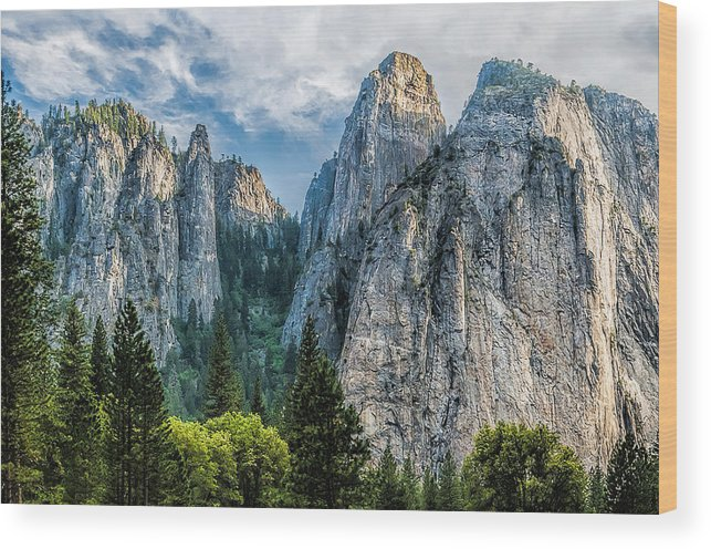 Yosemite National Park Wood Print featuring the photograph Sentinels by Maria Coulson