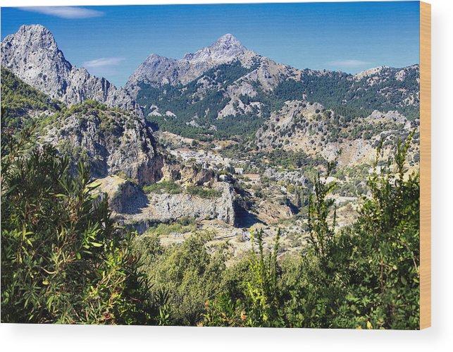 Mountain Wood Print featuring the photograph Grazalema by Goyo Ambrosio