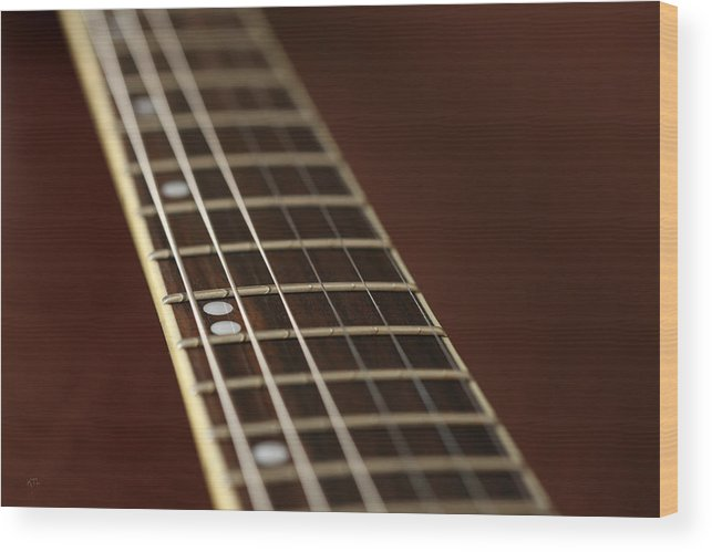 Music Wood Print featuring the photograph Guitar Neck by Karol Livote