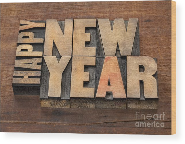 Antique Wood Print featuring the photograph Happy New Year by Marek Uliasz