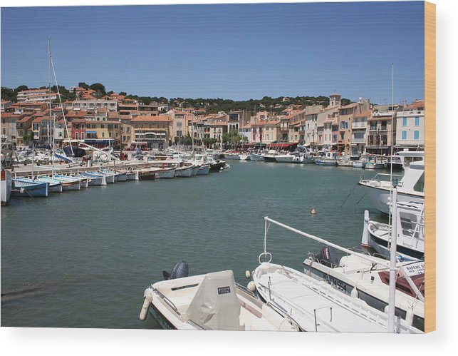 Harbor Wood Print featuring the photograph Harbor Cassis by Christiane Schulze Art And Photography