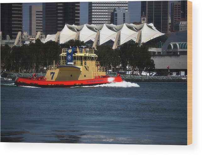 Harbor Tug Wood Print featuring the photograph Harbor Tug by See My Photos