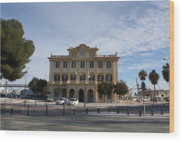 Malaga Wood Print featuring the photograph Harbour Quarter Malaga by Jan Katuin