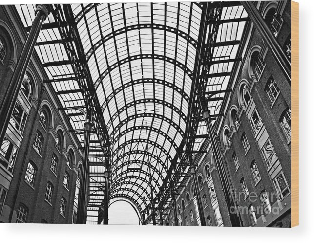 Hays Wood Print featuring the photograph Hay's Galleria Roof by Elena Elisseeva