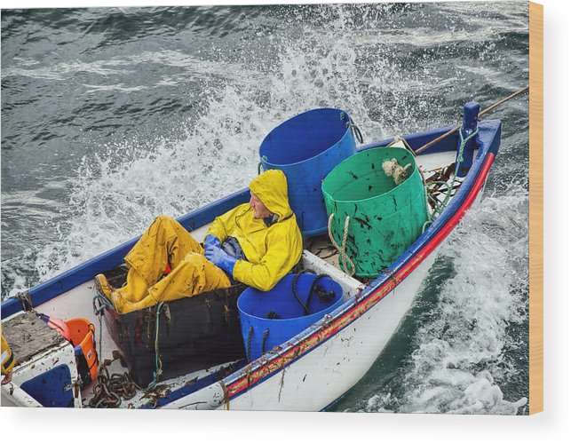 Fishermen Wood Print featuring the photograph Heading Out To Sea by Susie Peek