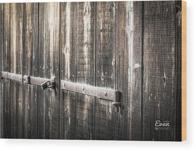 Rusty Wood Print featuring the photograph Heavy Metal by Evan Jones