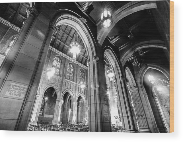Black And White Wood Print featuring the photograph High Arch by Niecy Love