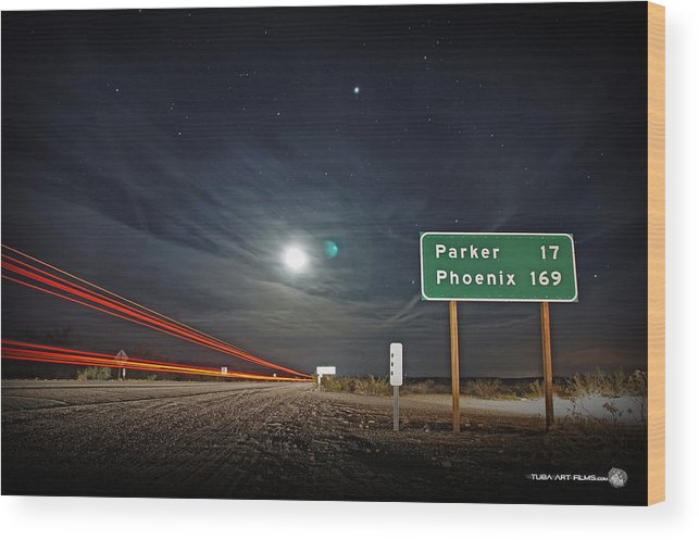 John Tuba Wood Print featuring the photograph Highway 62 by John Tuba