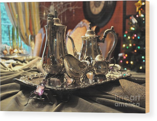 Silver Wood Print featuring the photograph Holiday Silver by Tanya Searcy