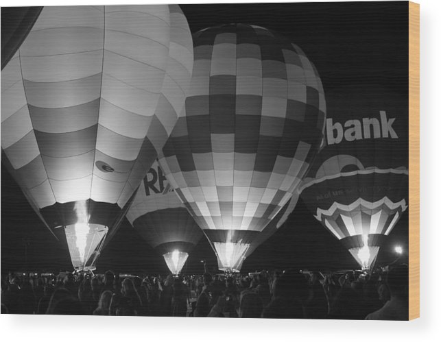 Fly Wood Print featuring the photograph Hot Air Balloons by Robert Aycock