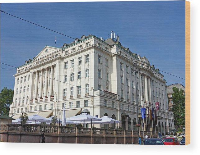 Croatia Wood Print featuring the photograph Hotel Esplanade Zagreb by Borislav Marinic