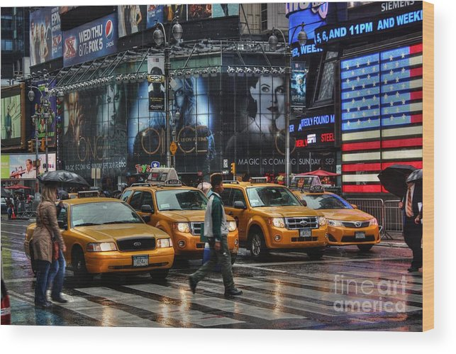 New York Wood Print featuring the photograph Human Frogger by David Bearden