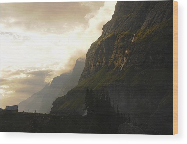 Landscape Wood Print featuring the photograph Hut With A View by Kedar Munshi