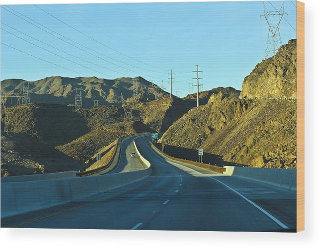 Highway Wood Print featuring the photograph Hwy 93 by Juan Gonzalez