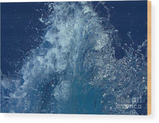 Water Wood Print featuring the photograph Icy Midnight Blue by Loretta Jean Photography