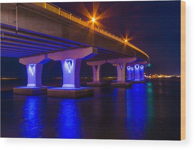 Bridge Wood Print featuring the photograph Illuminati by Kevin Jarrett