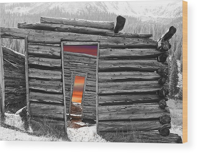 Montage Wood Print featuring the photograph Independent Sunset by Greg Wells