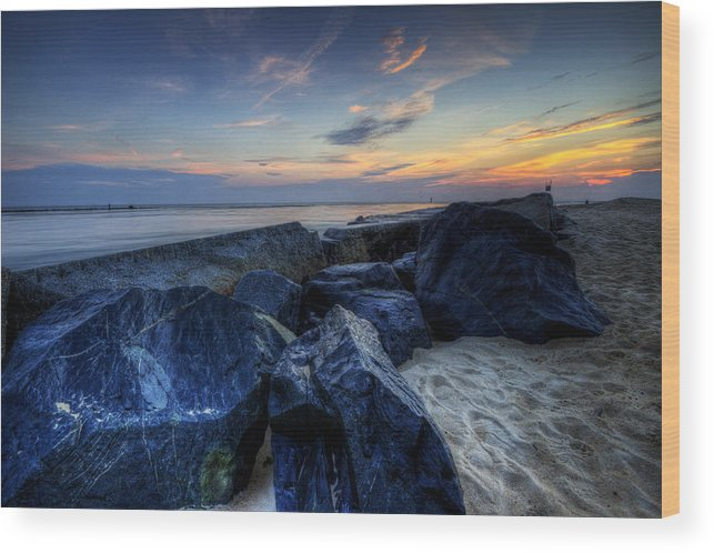 Indian River Inlet Wood Print featuring the photograph Indian River Inlet by David Dufresne