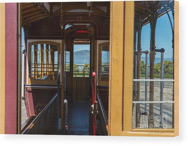 Iris Holzer Richardson Wood Print featuring the photograph Inside Trolley 28 by Iris Richardson