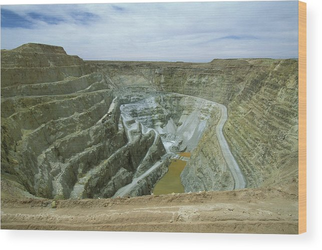 Altiplano Wood Print featuring the photograph Inti Raymi Gold Mine Quarry In Oruro by Anders Ryman