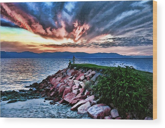 Sunset Wood Print featuring the photograph It's A Beautiful World by Lanis Rossi