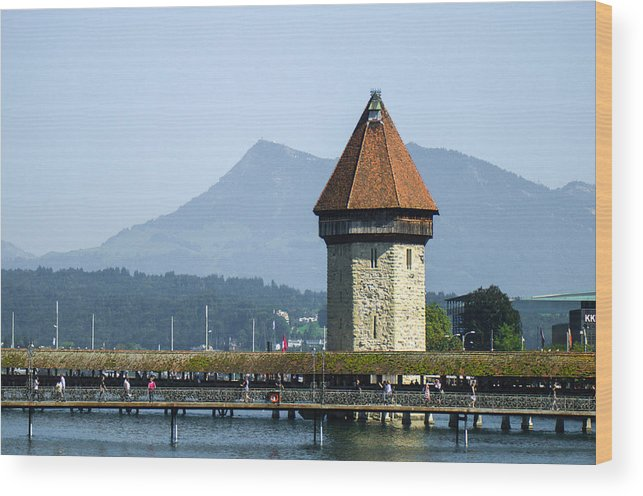 Lucerne Wood Print featuring the photograph It's Lucerne by Arylana Art
