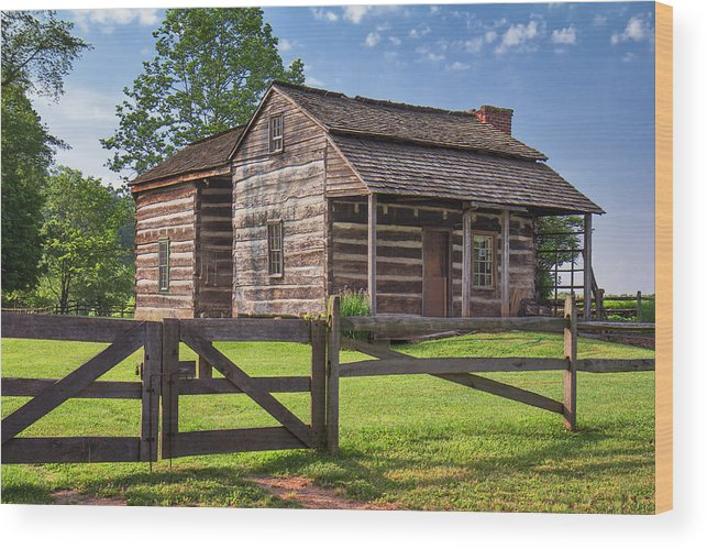 Jackson's Mill Wood Print featuring the photograph Jacksons Mill Cabin by Mary Almond