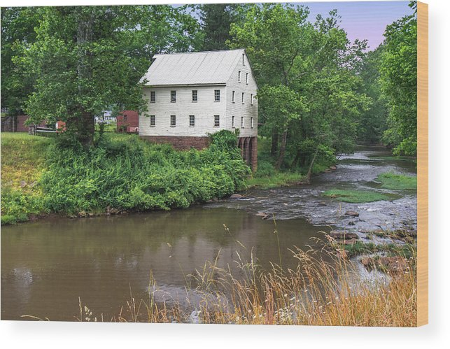 Jackson's Mill Wood Print featuring the photograph Jacksons Mill In The Rain by Mary Almond