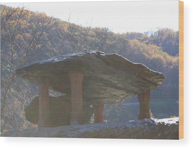 Jefferson Rock Wood Print featuring the photograph Jefferson Rock by Andrew Romer
