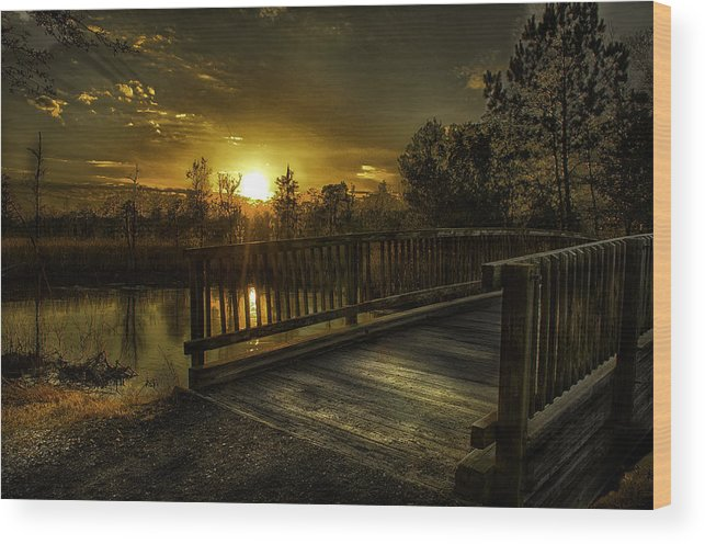 Jf Wood Print featuring the photograph J.f. Gregory Park Sunset by Kip Pears