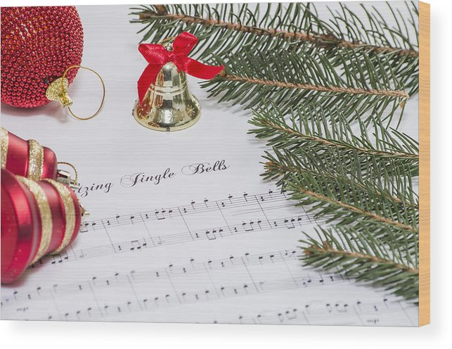 Background Wood Print featuring the photograph Jingle Bells by Paulo Goncalves