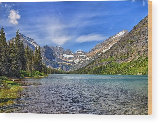 Josephine Lake Wood Print featuring the photograph Josephine Lake by Philip Kuntz