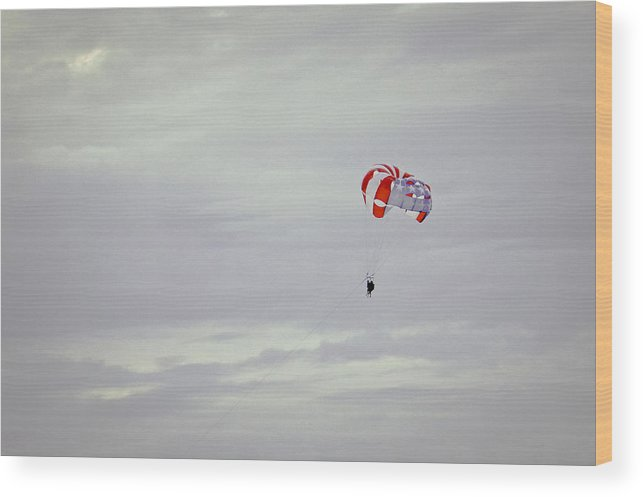 Clouds Wood Print featuring the photograph Just The Two Of Us II by Ronda Broatch