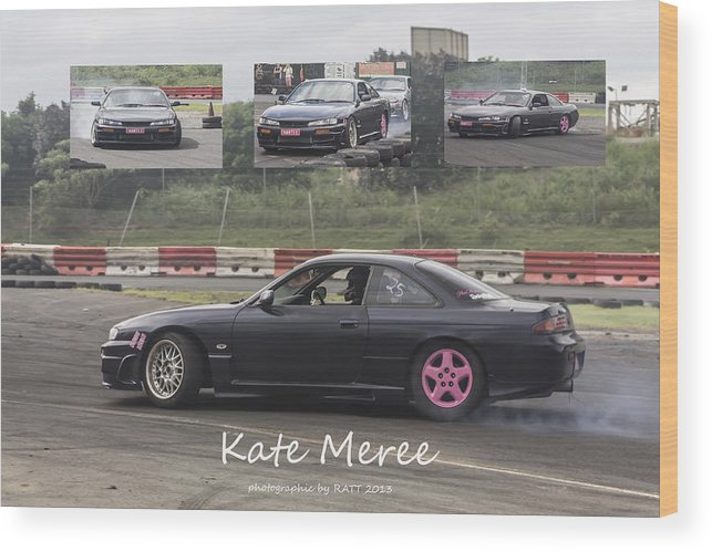 Cars Wood Print featuring the photograph kate Meree by Michael Podesta